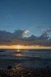 Cloudscape sobre el mar holandés Imágenes de archivo libres de regalías