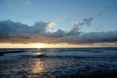 Cloudscape sobre el mar holandés Foto de archivo