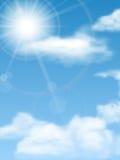 Cloudscape sol, himmel Royaltyfri Fotografi
