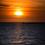 Cloudscape soluppgång Arkivbild