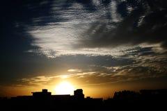 Cloudscape Sonnenuntergang Stockfoto