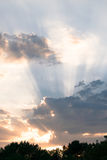 Cloudscape am Sonnenuntergang Lizenzfreies Stockfoto