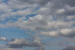 Cloudscape of spring sky. On windy day Royalty Free Stock Photo