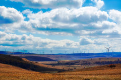 The cloudscape on the steppe Stock Photos