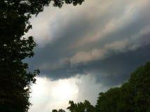 Cloudscape storm, bakgrund Arkivbilder