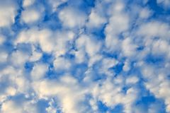 Cloudscape with stratocumulus clouds, clouds texture. Nature bac Stock Photography