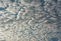 Cloudscape with stratocumulus clouds. Clouds texture. Background royalty free stock photography