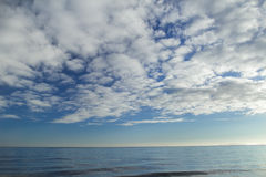 Cloudscape with stratocumulus clouds over horizon Royalty Free Stock Photography