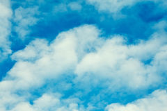 Cloudscape With Stratocumulus Clouds. At sunny day royalty free stock photo