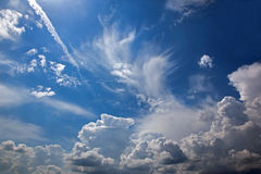 Cloudscape for the strom Stock Photo
