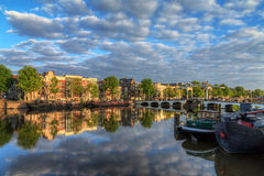 Cloudscape summer Amstel Royalty Free Stock Photo