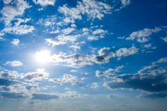 Cloudscape with sun royalty free stock image
