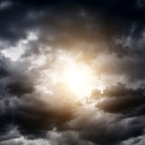Cloudscape with a Sunlight Royalty Free Stock Photo