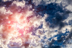 Cloudscape with a Sunlight Stock Image