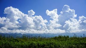 Cloudscape at sunny day. On Inle Lake in Shan State, Myanmar Stock Images