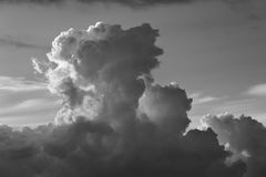 Cloudscape at sunrise with dramatic cloud Stock Photo