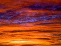 Cloudscape in the sunset Stock Photography
