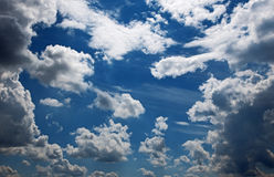 Cloudscape by sunset Royalty Free Stock Image