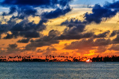 Cloudscape sunset Puerto Rico Stock Photo