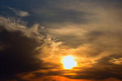 Cloudscape by sunset Stock Photos