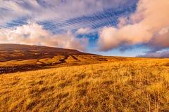 Cloudscape surpreendente acima do prado da montanha Imagem de Stock Royalty Free