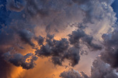 Cloudscape at Suset for Background Royalty Free Stock Photos
