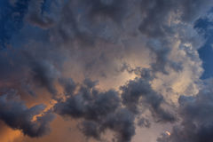 Cloudscape at Suset for Background Stock Images