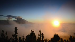 Cloudscape and teide volcano Stock Images