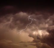 Cloudscape with thunder bolt Royalty Free Stock Image