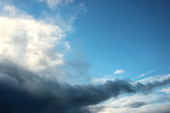 Cloudscape of thundery clouds Royalty Free Stock Photography