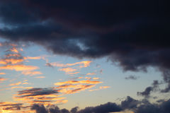 Cloudscape of thundery clouds Royalty Free Stock Photos