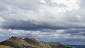 Cloudscape tidschackningsperiod Arkivfoto