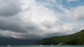 Cloudscape-timelapse, Phuket stock video footage