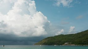 Cloudscape timelapse, Phuket stock video footage