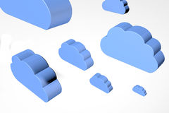 Cloudscape to represent information in the cloud Stock Image