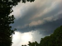 Cloudscape, tormenta, fondo Imagenes de archivo