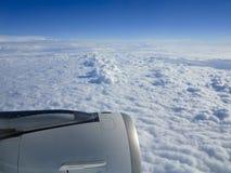 Cloudscape und Flugmotor Lizenzfreies Stockfoto