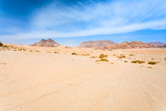 Cloudscape under Wadi Rum desert Royalty Free Stock Photography