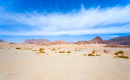 Cloudscape under Wadi Rum desert Royalty Free Stock Image