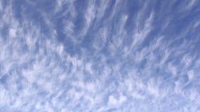 Cloudscape underifrån Time-schackningsperiod arkivfilmer