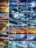 Cloudscape variations Royalty Free Stock Photo