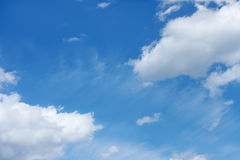 Cloudscape with various clouds Stock Photos