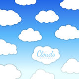 Cloudscape vector illustration Royalty Free Stock Photos