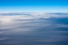 Cloudscape View. Aerial view of a cloud blanket Royalty Free Stock Image