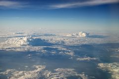 Cloudscape viewed from above stock photography