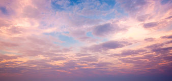 Cloudscape in vroege ochtend Royalty-vrije Stock Fotografie