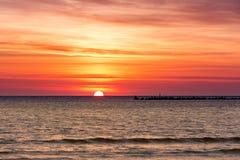 Cloudscape w wschodzie słońca Zdjęcia Stock