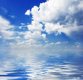 Cloudscape and water Stock Photography