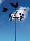 cloudscape weathervane przeciwko Zdjęcie Royalty Free