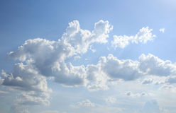 Cloudscape white clouds and blue sky Royalty Free Stock Photos